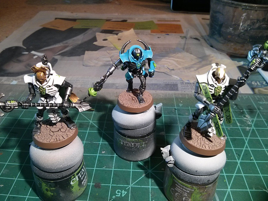The Hammer Of Wrath: WIP: Necron Royal Court