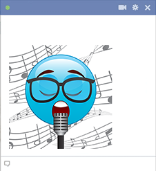 Singing Facebook Emoji