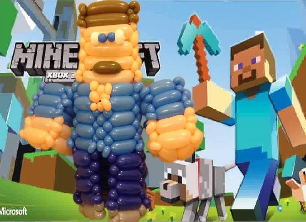 MineCraft造型氣球