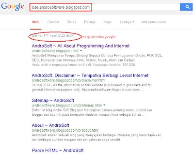 Cara Cepat Mengetahui Artikel Blog di Index Google