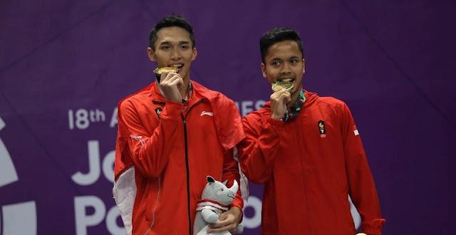 Asian Games Sudah, Jonatan dkk. Ditunggu Jadwal Padat di Bulan September