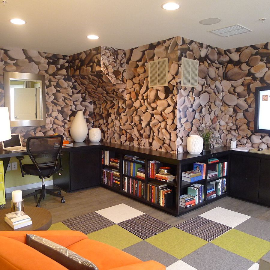 Desain Wallpaper Dinding Cafe