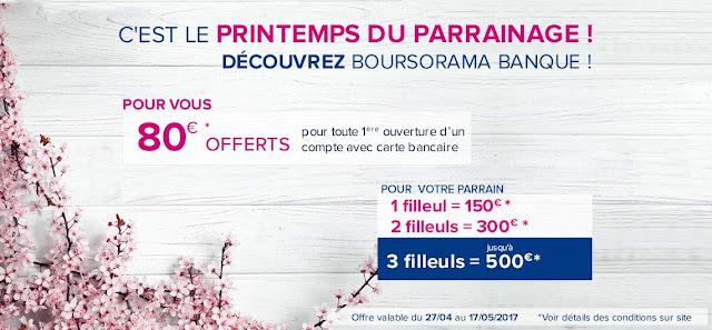 Gagnez 150 € pour l'ouverture d'un compte Boursorama Banque via un parrain