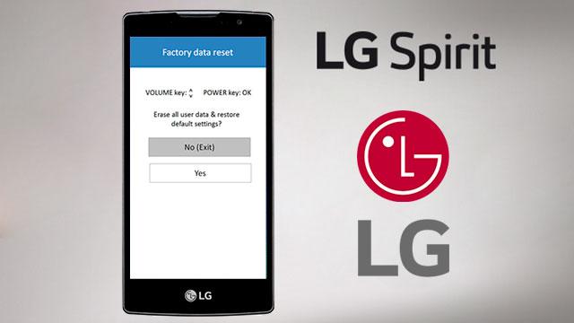 resetear un LG Spirit