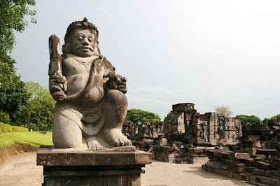 Dwarpala statue at Candi Sewu, Indonesia