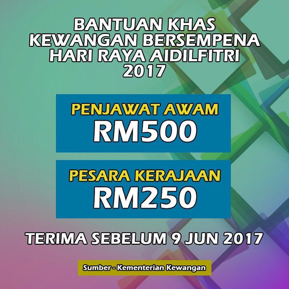 Tarikh Pembayaran Bonus Hari Raya 2017 Kakitangan Awam Kisah Viral Malaysia Terkini