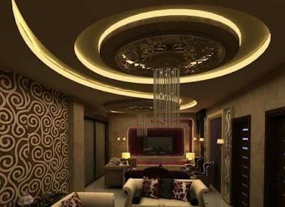 POP false ceiling designs for living rooms LED indirect lights