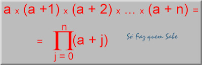 Exercício mostrando a simplificação da visualização de uma expressão através da notação de produtório.
