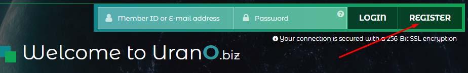 Регистрация в Urano