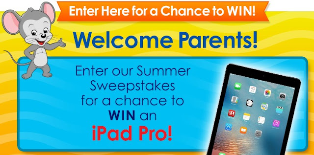 ABC Mouse just started their summer sweepstakes and they're giving parents a chance to enter once to win an Apple iPad Pro worth nearly $600!