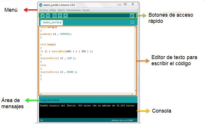 Programación de arduino el ide