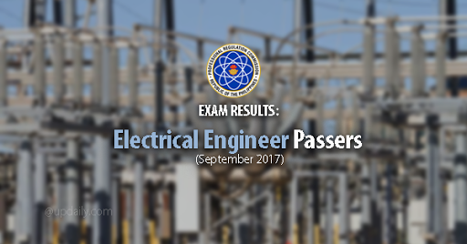 Exam Results:  Electrical Engineer Passers (September 2017)