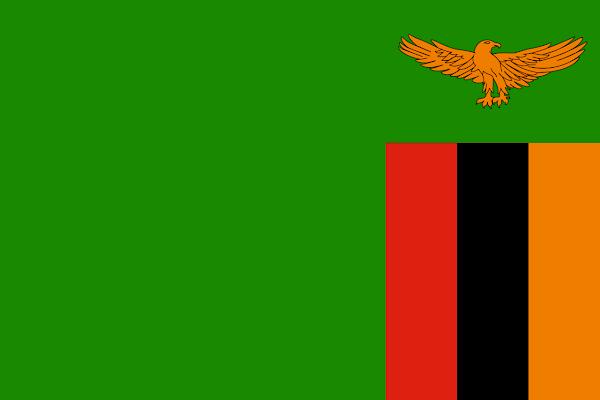 Logo Gambar Bendera Negara Zambia PNG JPG ukuran 600 px