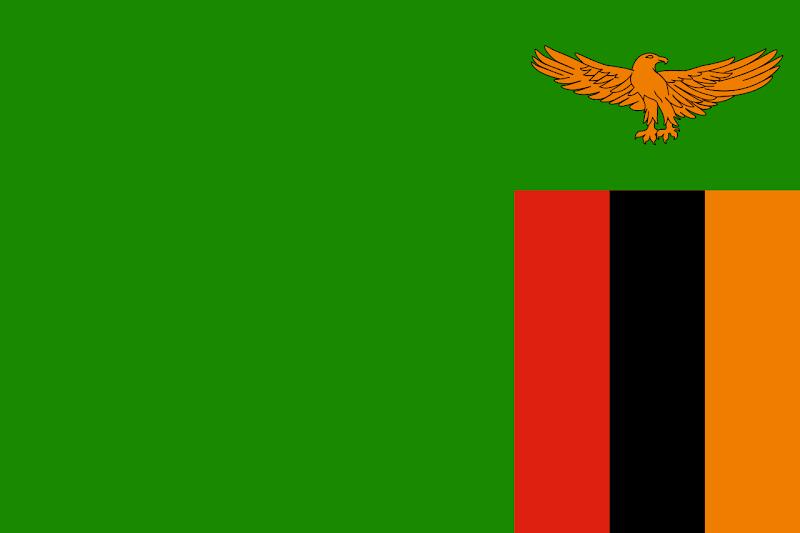 Logo Gambar Bendera Negara Zambia PNG JPG ukuran 800 px