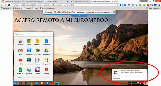 acceso remoto a un chromebook