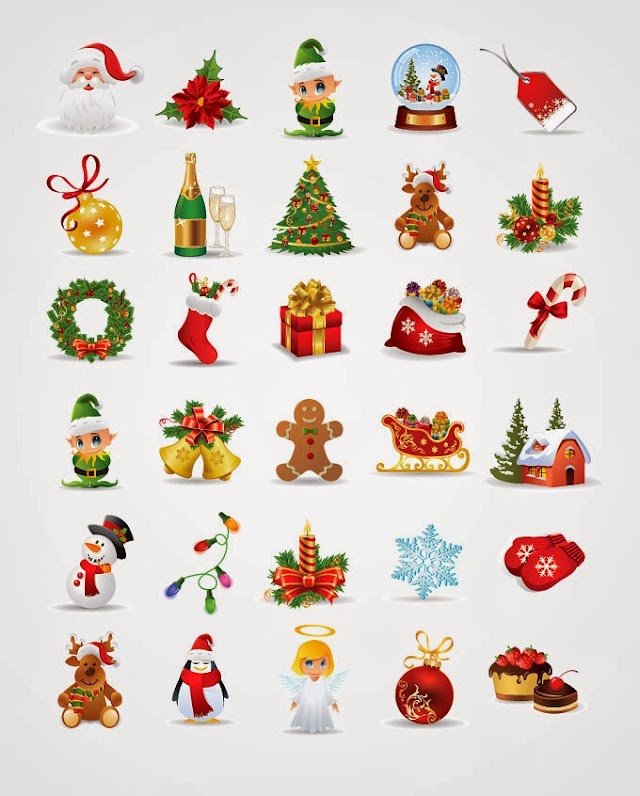 Free Christmas Icons & Vector Elements
