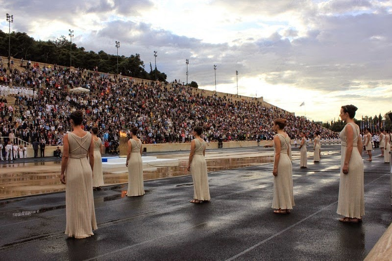 The Olympic flame for the London 2012 Summer Games was handed over to the British delegation at the Panathenaic Stadium of Athens, Greece on May 17. - Panathenaic Stadium. The Birthplace of Modern Olympics