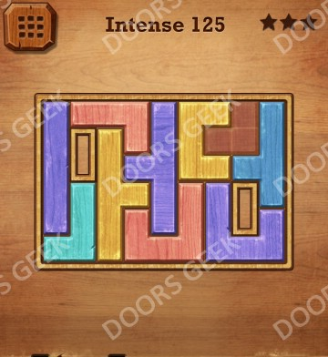 Cheats, Solutions, Walkthrough for Wood Block Puzzle Intense Level 125