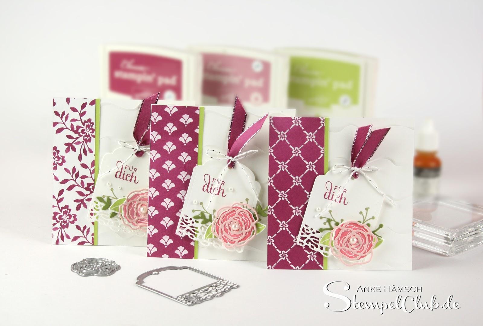Hochzeitskarte, Spitze, festliche Karte mit Stampin' Up!