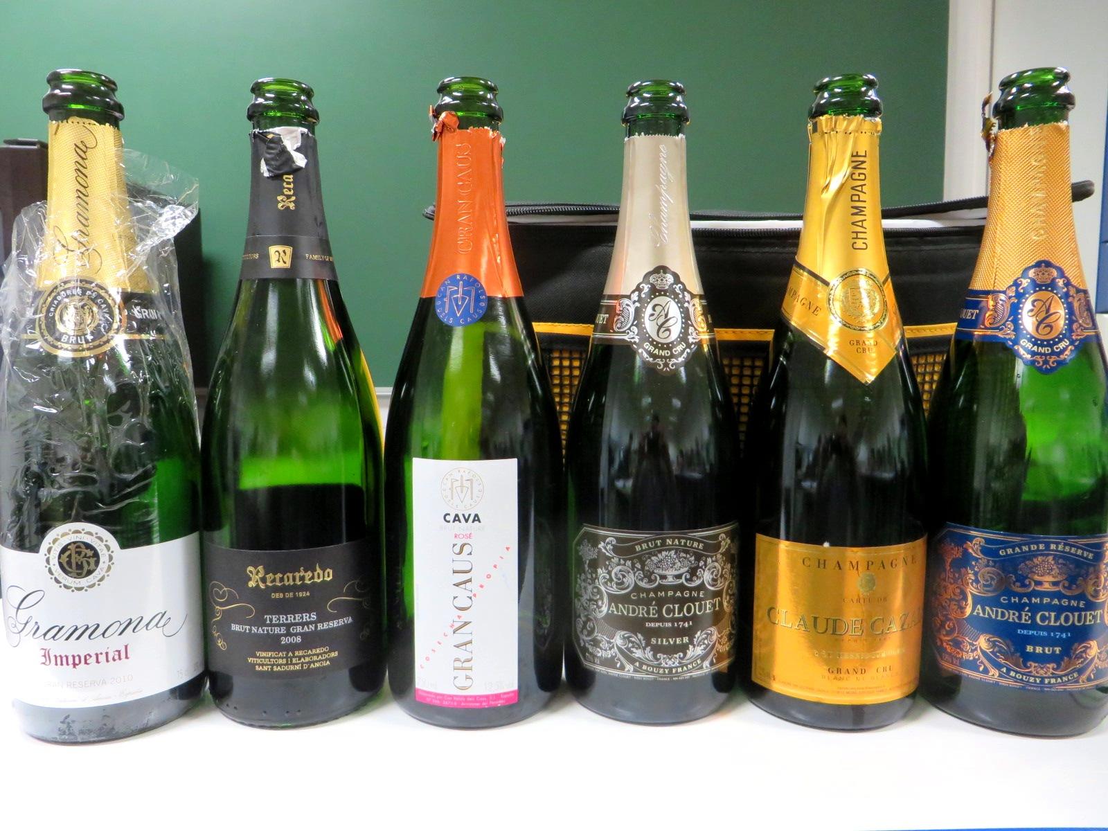 champagne y vino espumoso