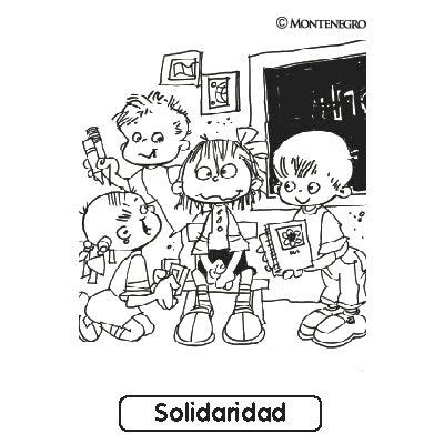 Dibujos Para Colorear De Solidaridad Para Niños 20