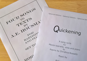 Crowd-funding - Quickening, song to texts by English and Welsh poets