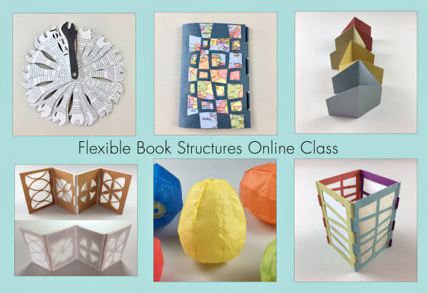 6 handmade flexible artist book structures