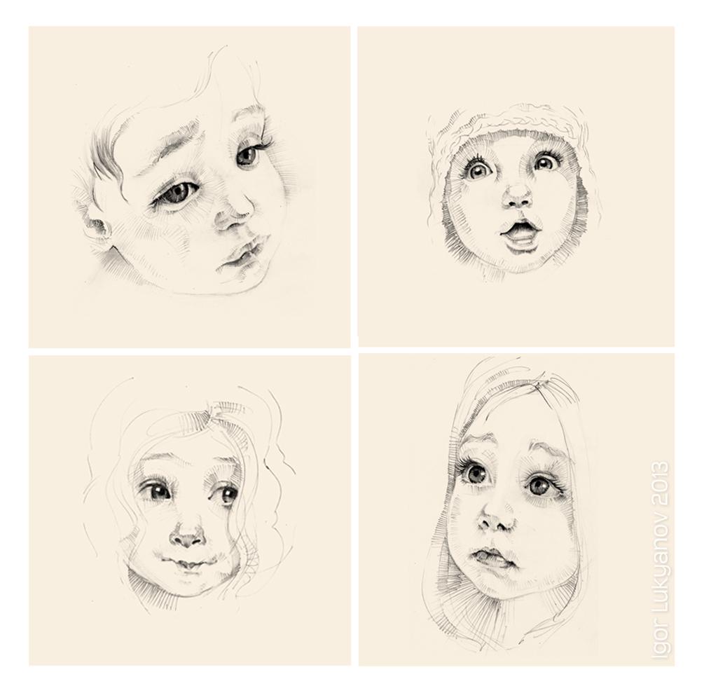 Drawing Sketch a Day by Igor Lukyanov