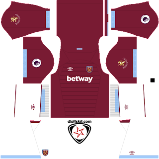 West Ham United FC 2018 - 2019 Home Kit