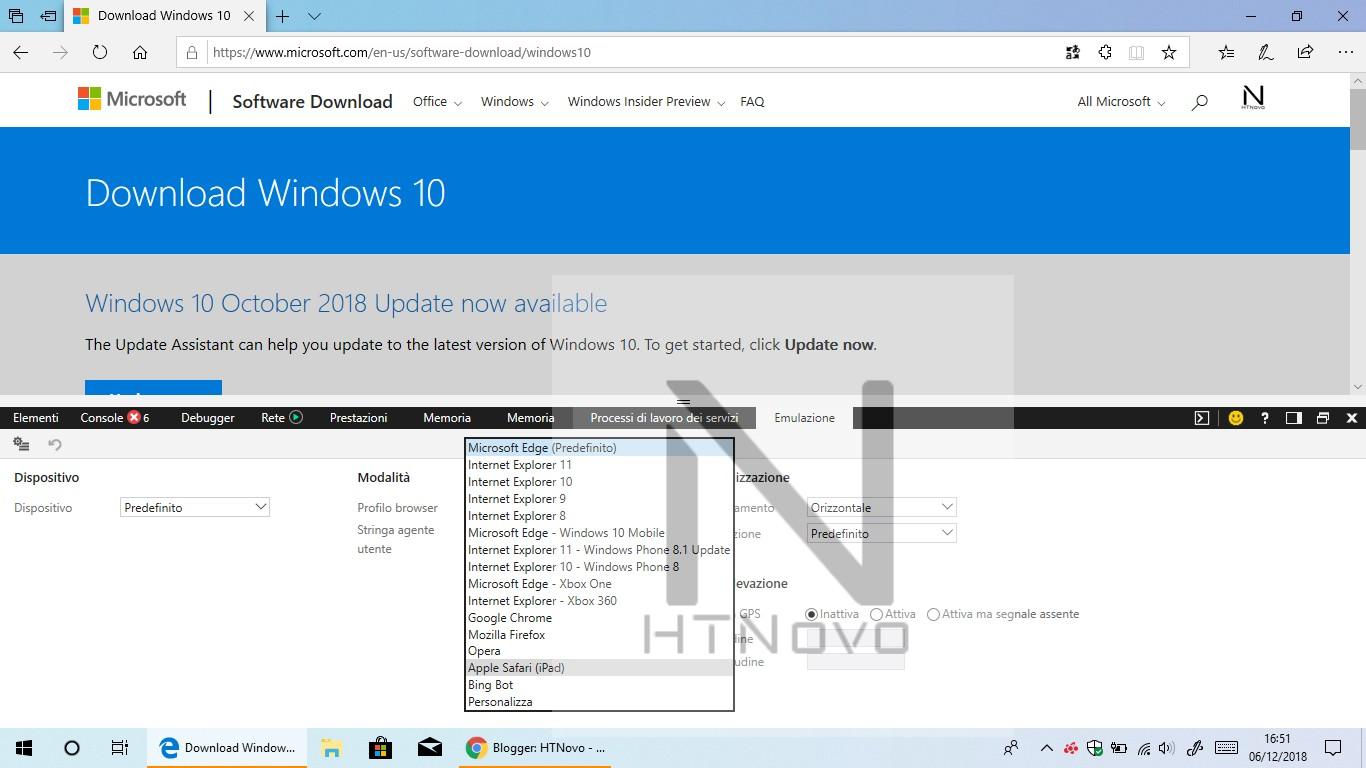 Come scaricare ISO ufficiali di Windows 10 1803 dopo il