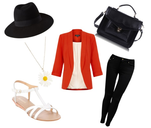 How to add a pop of colour to monochrome | orange | Love, Maisie