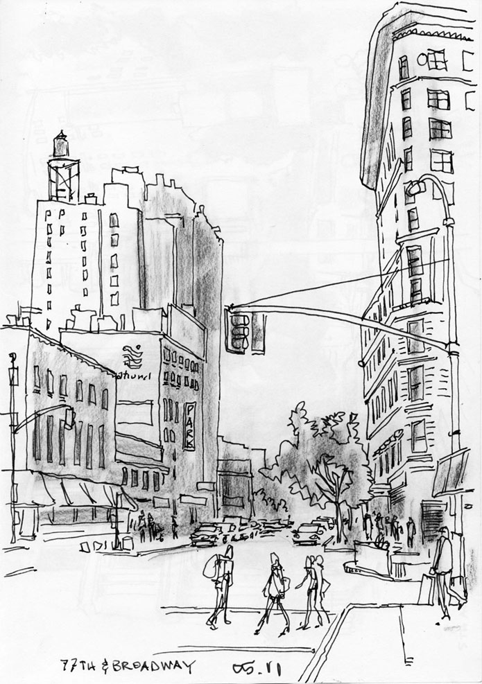 Mark Michelon Drawings: reposting some manhattan drawings