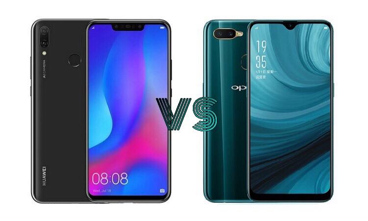 Huawei Y9 (2019) versus OPPO A7