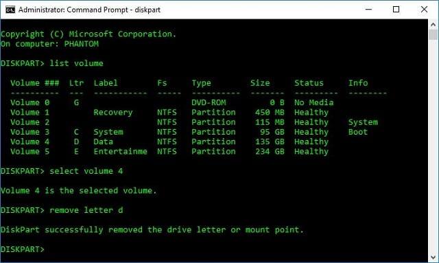 Cara menyembunyikan Drive (partisi) di Windows 15
