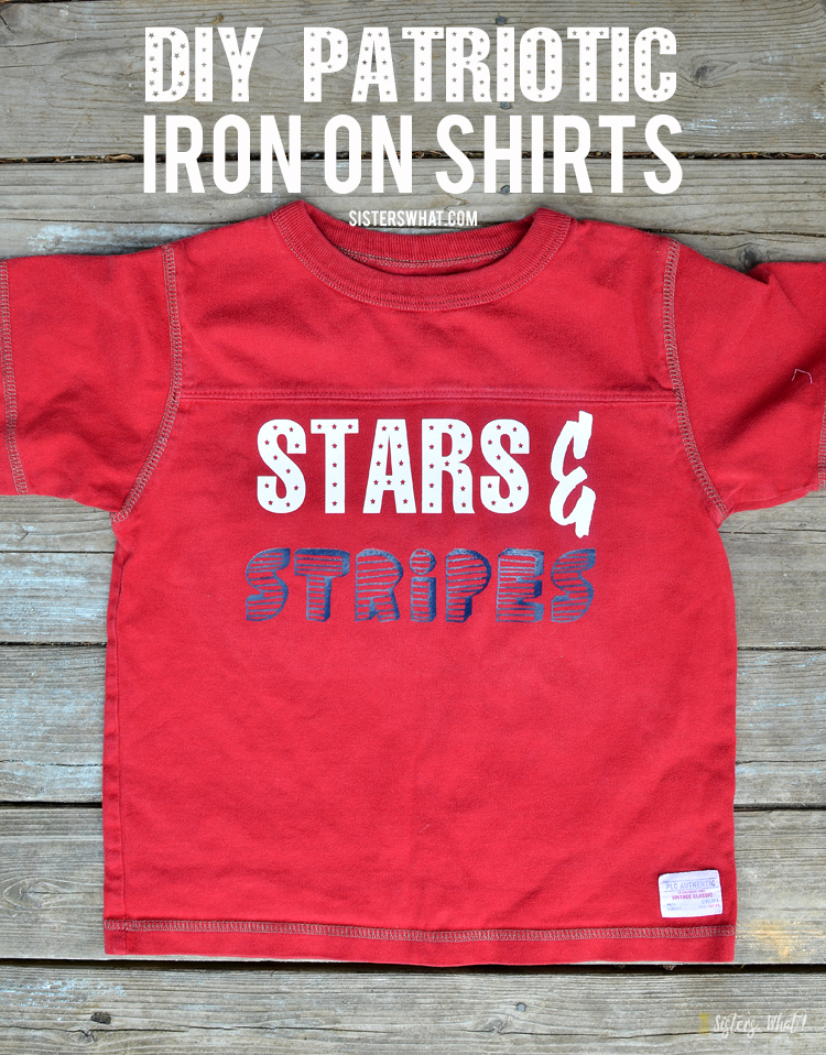 DIY patriotic iron shirts for kids or adults