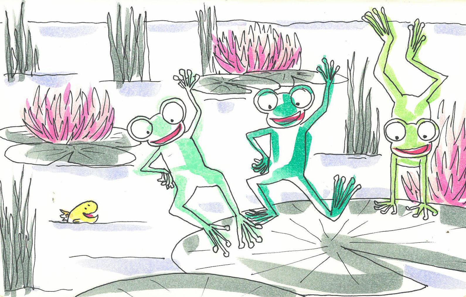 Cuento de las ranas que cantaban rap