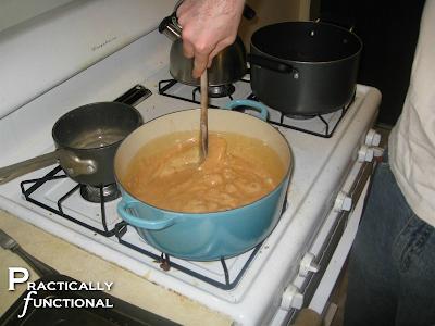 Preparing caramel for caramel apples