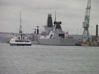 portsmouth navy ships destroyer in port