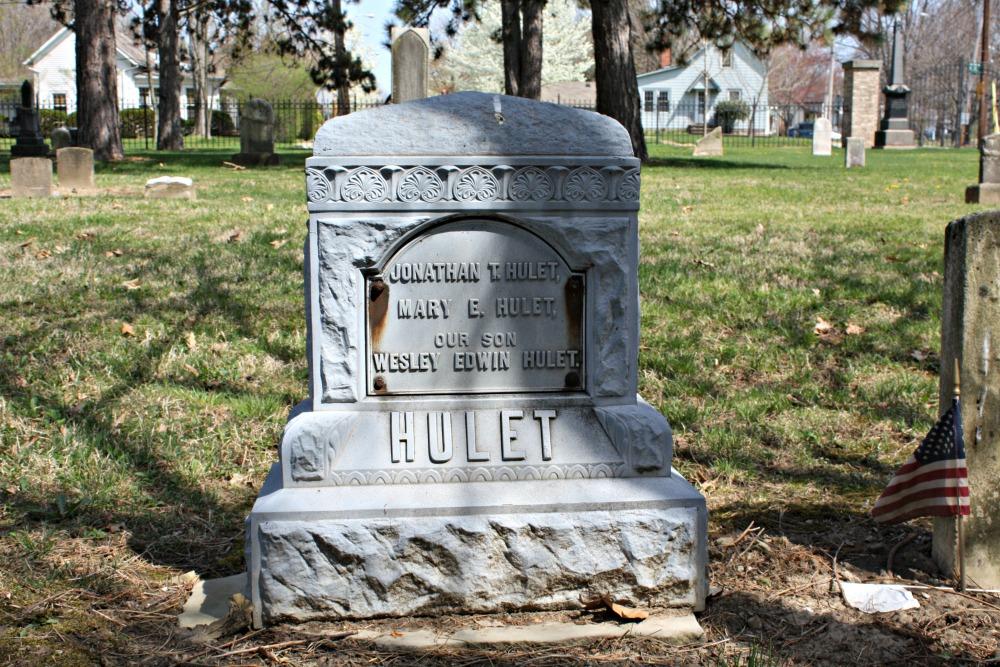 Hulet family grave stone