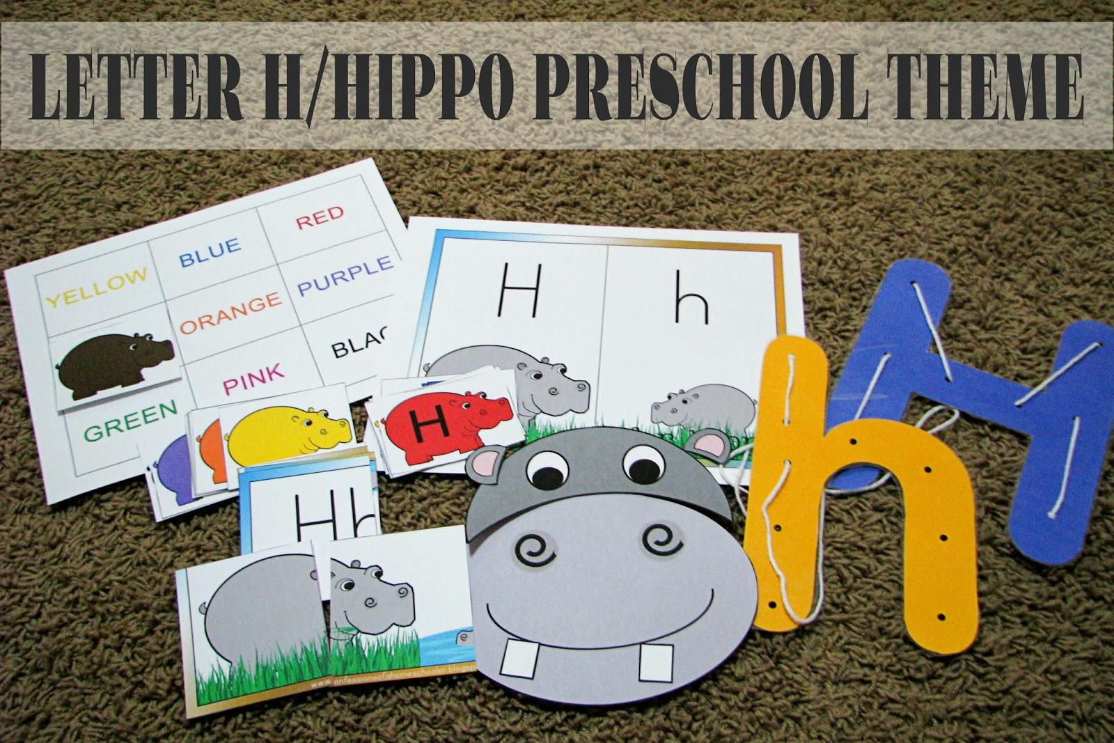 Mommy S Little Helper Letter H Hippo Preschool Theme