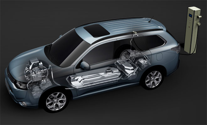 Mitsubishi Outlander PHEV under the skin