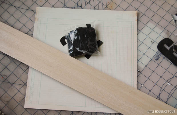 Create vintage inspired number tags with inexpensive balsa wood.