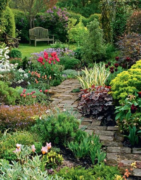 English Cottage Garden In Worcestershire