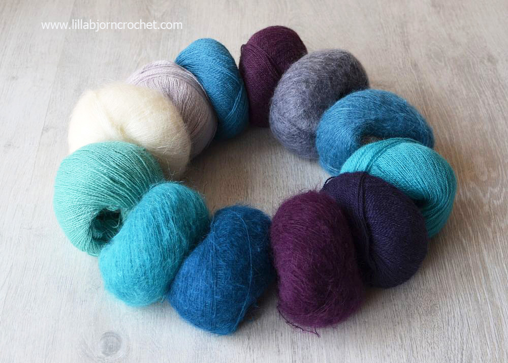 Rhythm Alpaca and Mohair yarn from Scheepjes - review by Lilla Bjorn Crochet