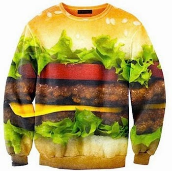 sweat-shirt hamburger