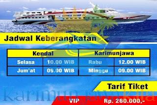 jadwal kapal kendal karimunjawa terbaru
