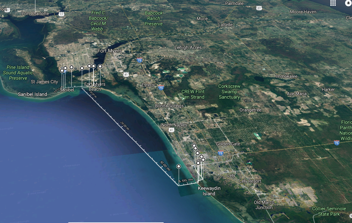 route from naples fl to sanibel island bwo mooring fields