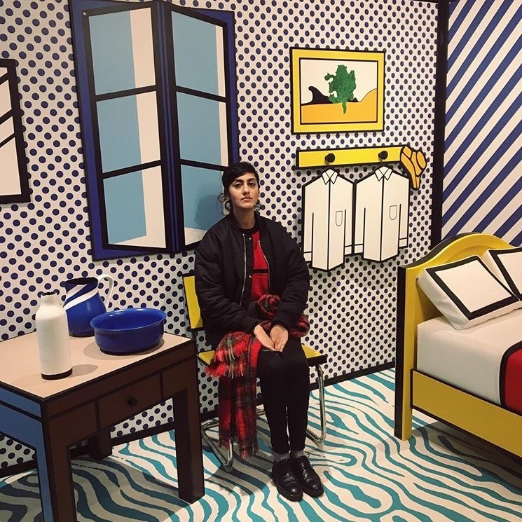 "The Moco Museum in Amsterdam. This was the ""Roy Lichtenstein room""."