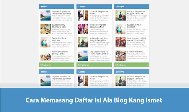 Cara Membuat Daftar Isi Seperti Blog Kang Ismet