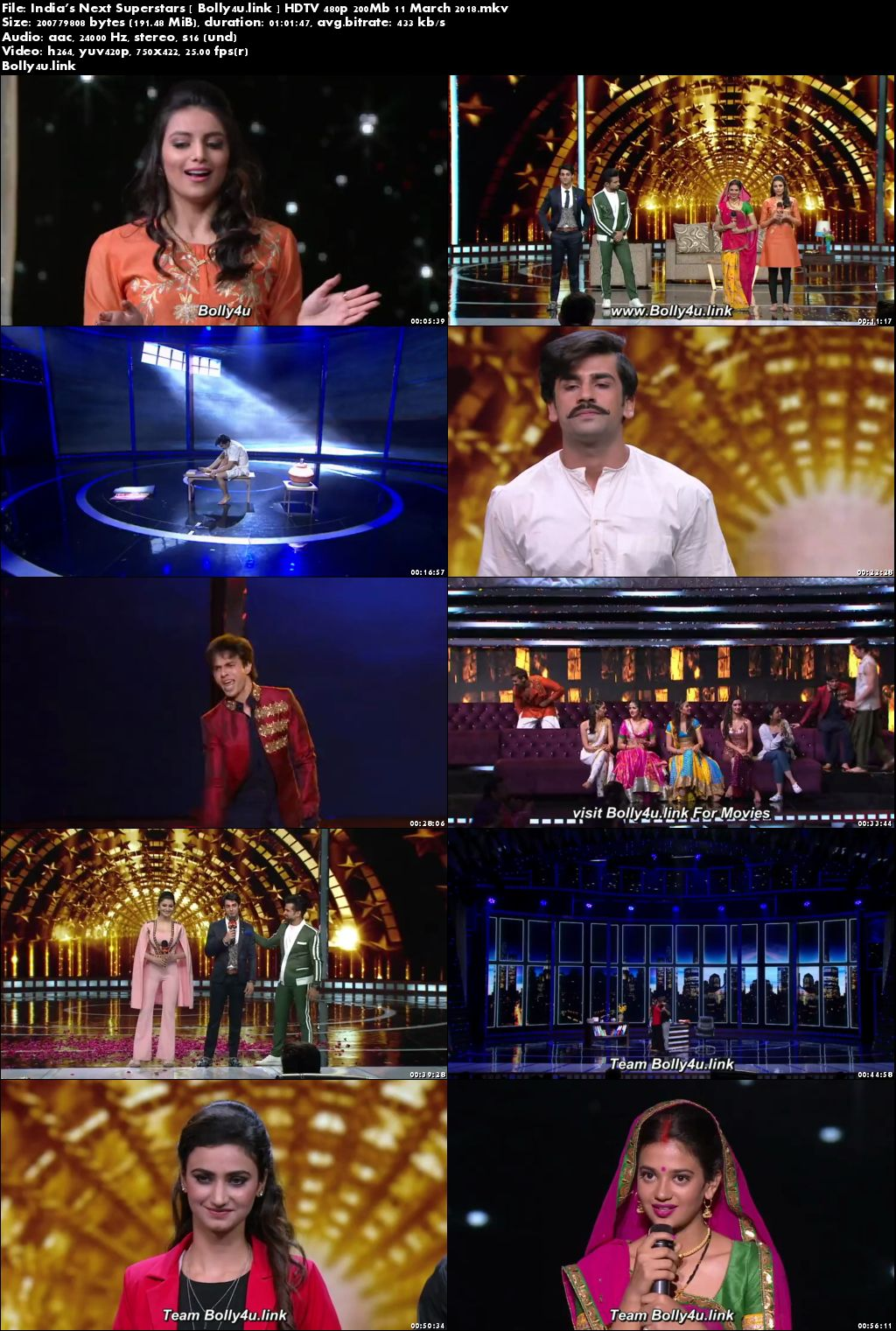 Indias Next Superstars HDTV 480p 200Mb 11 March 2018 Download